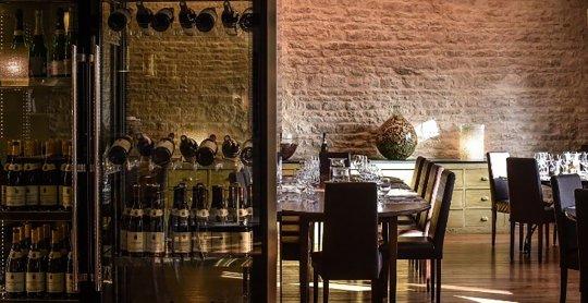 Restaurant Olivier Leflaive. Puligny Montrachet.